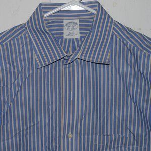 Brooks brothers dress mens shirt size 16 1/2 J905